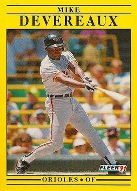 1991 Fleer #469 Mike Devereaux