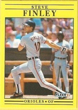 1991 Fleer #470 Steve Finley