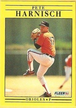 1991 Fleer #474 Pete Harnisch