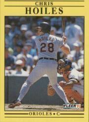 1991 Fleer #476 Chris Hoiles