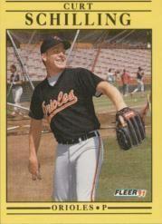 1991 Fleer #491 Curt Schilling