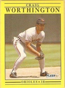 1991 Fleer #496 Craig Worthington