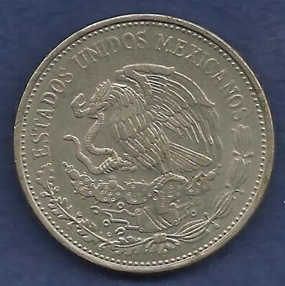 Mexico $ 20 Pesos 1984 Coin, Cultura Maya Commemorative Mexican Coin - Engraved Rim