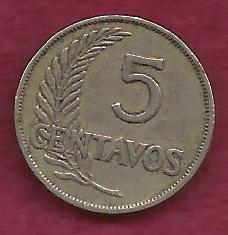 Peru 5 Centavos 1949 Coin, 1949 Written date
