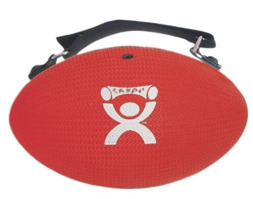 CanDo 3 lb. Handy Grip Hand Weight / Weight Ball, Red, for Strength Training