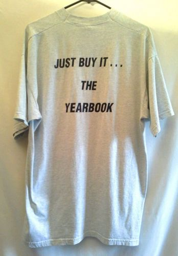 Fruit of the Loom XLarge Gray Tshirt Yearbook Just do it