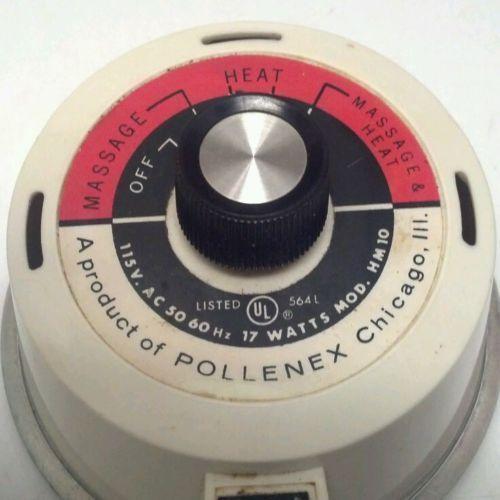 POLLENEX DEEP HEAT Vibrating MASSAGER model HM 10 ac 2 speed hand held electric