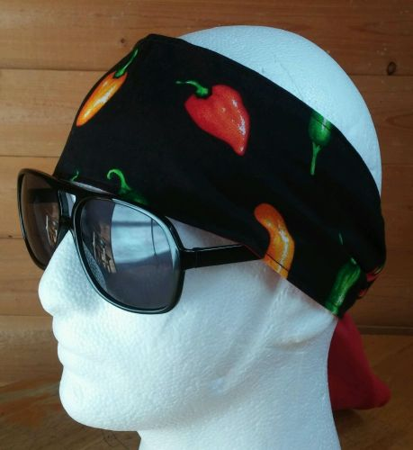 Headband hair wraptie bandana Hot Pepper biker boho hippie men women