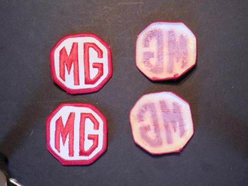 "Lot of 4 Vintage British Austin MG Racing Iron/Sew on Patches 2"" x 2"""