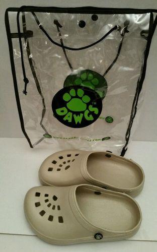 Dawgs Clog Shoes 5/6 W Tan Womens Slip Ins