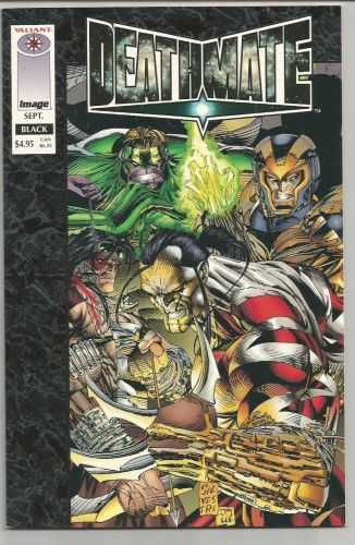 DEATHMATE Deluxe Format BLACK Image Comics 1993 1st Print Silvestri, Williams +