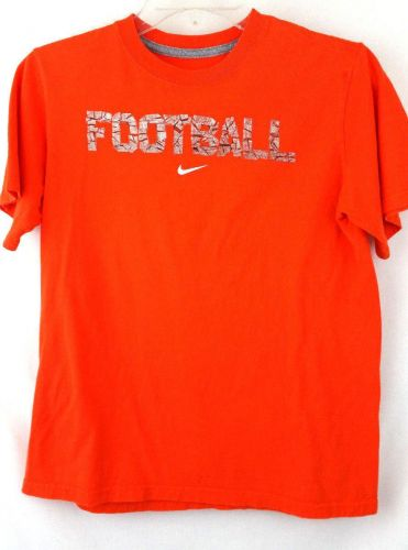 Nike Large Orange Football Tshirt Boys L