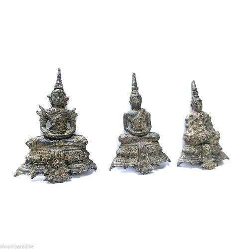 3 Seasons of Phra Kaew Morakot Thai Buddha Amulet Lucky Rich Protect FREE Stamps