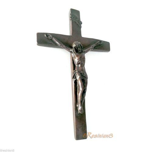 Hanging Decorative Jesus Crucifix Wall Cross Christian Religious Art Resin Decor