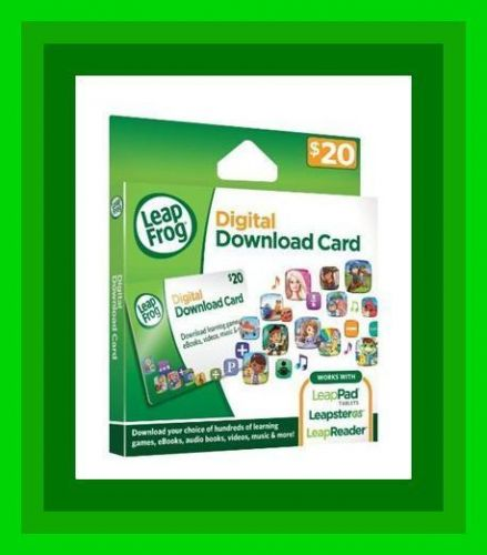 LeapFrog App Center Digital Download Card $20.00 code same day, messaged within day!