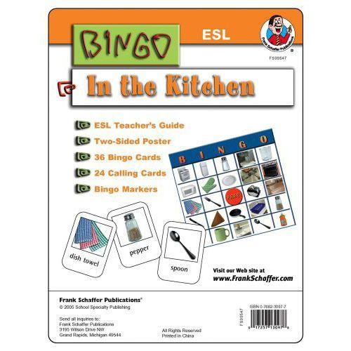 In The Kitchen ESL Bingo Game Kit