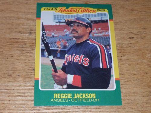 VINTAGE Reggie Jackson California Angels 1986 FLLER LIMITED EDITION GLOSSY NMNT