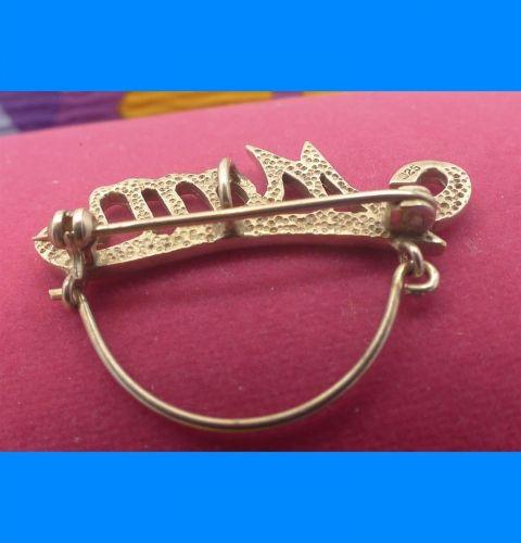 Vintage Sturdy Charm Holder Pendant or Brooch : Gift For Mother - Spells Mom