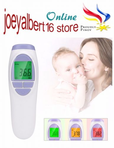 Non-Contact Infrared Body and Object Thermometer - 3 Color Backlit Display