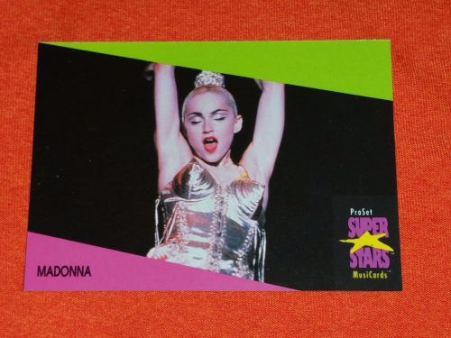 RETRO MADONNA 1992 PROSET ROCK & ROLL COLLECTORS CARD #276 MNT