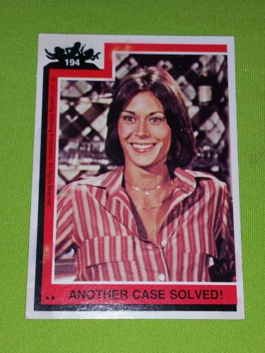 VINTAGE 1977 CHARLIES ANGELS TELEVISION SERIES COLLECTORS CARD #194 GD-VG