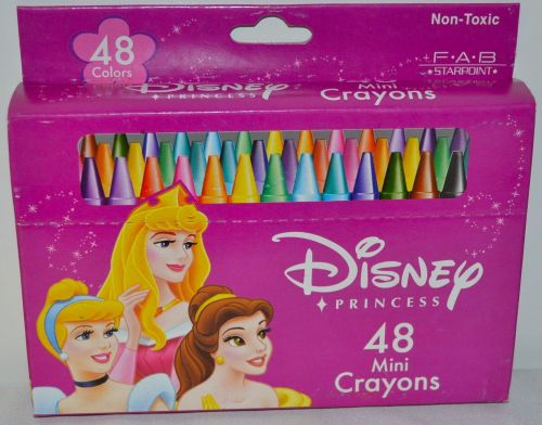 DISNEY PRINCESS ASSORTED 48 PC MINI CRAYONS