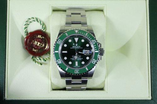 Rolex Submariner Men's Watch Green Bezel 116610LV