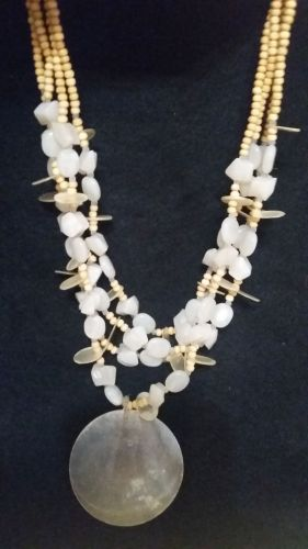 NECKLACE, MULTISTRAND YELLOW BEADED - LIGHT Weight & Comfortable! VERY ORNATE!