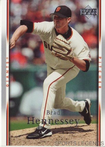 2007 Upper Deck #440 Brad Hennessey