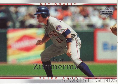 2007 Upper Deck #457 Ryan Zimmerman