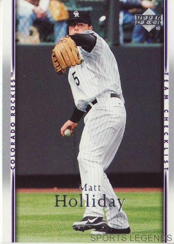 2007 Upper Deck #489 Matt Holliday