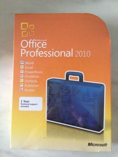 Microsoft Office Professional 2010 32/64-Bit (Retail (License + Media)) (1 User)