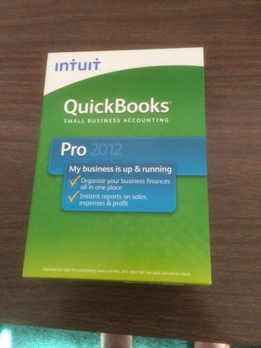 INTUIT QUICKBOOKS PRO 2012 INTUIT Small Business Accounting Retail 1 USER