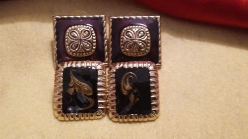 2 Sets of Beautiful Conservative Lady's Ear Rings -Very sophisticated & Classic!