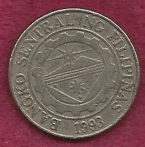Philippines 1 Peso 1995 Coin