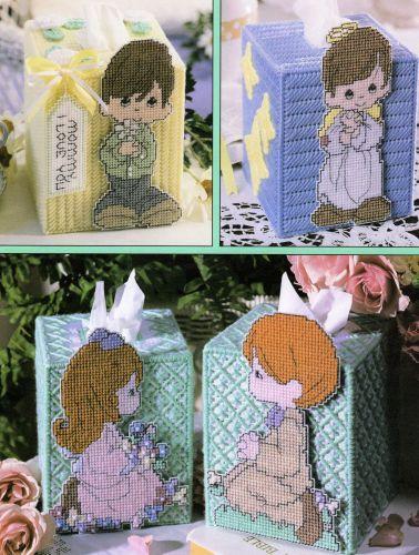 10x Precious Moments Tissue Covers Plastic Canvas PDF Pattern Digital Delivery