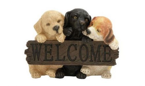 Adorable Puppy Welcome Sign