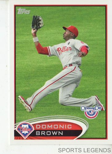 2012 Opening Day #40 Domonic Brown