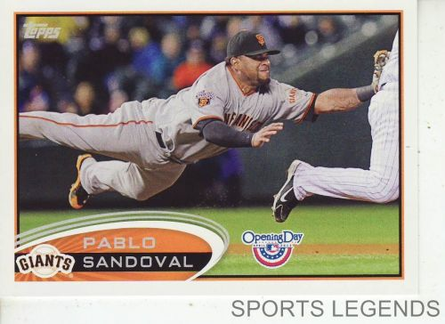 2012 Opening Day #63 Pablo Sandoval