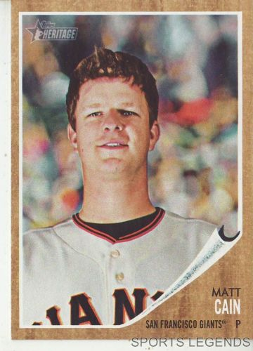 2011 Heritage #260 Matt Cain