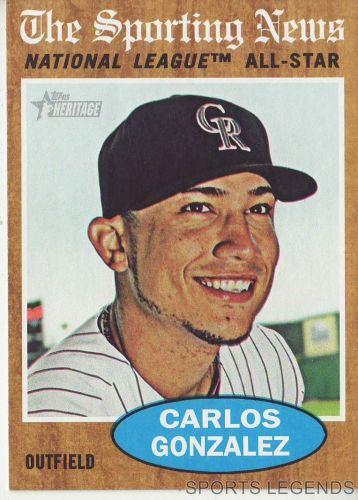 2011 Heritage #396 Carlos Gonzalez