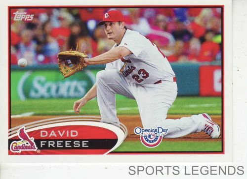 2012 Opening Day #206 David Freese