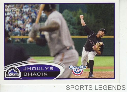 2012 Opening Day #213 Jhoulys Chacin