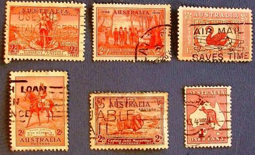 "1930's Australia ""A Variety Packet"" Stamps"