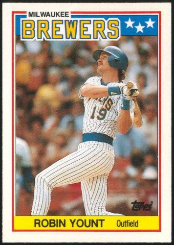1988 Topps UK Minis #87 Robin Yount Milwaukee Brewers
