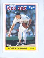 1988 uk minis #15 roger clemens topps