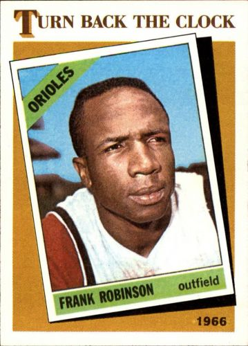 1986 topps #404 frank robinson turn back the clock