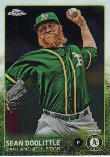 2015 Topps Chrome #41 - Sean Doolittle - Athletics