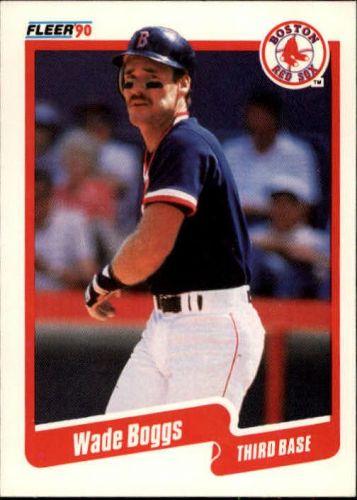 1990 fleer #268 wade boggs red sox
