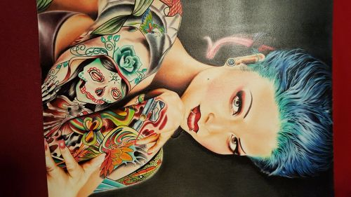 AUTHENTIC HANDMADE DRAWING, ORIGINAL AND GENUINE IN COLOR PENCILS!!!